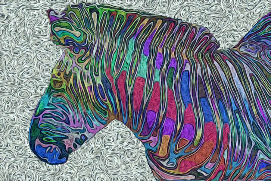 Zebra 2- Happened At The Zoo  Painting
