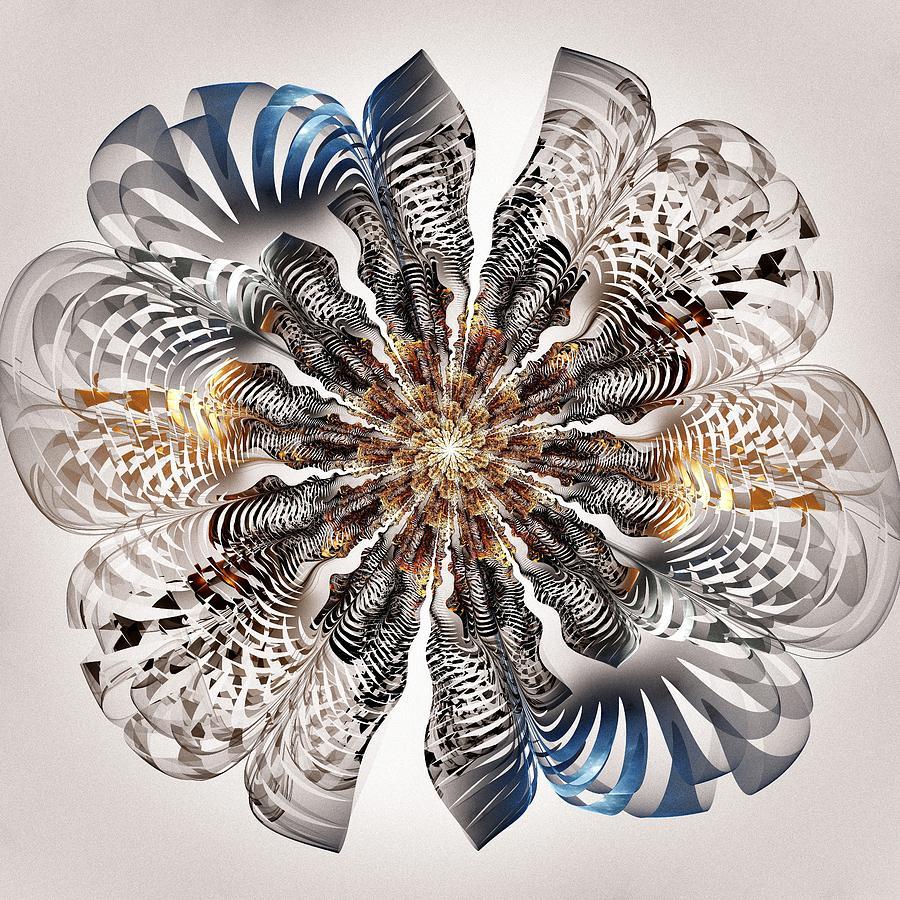 Zebra Flower Digital Art