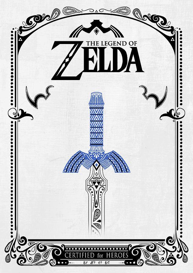 Zelda Legend Sword Doodle Drawing By Art Et Be