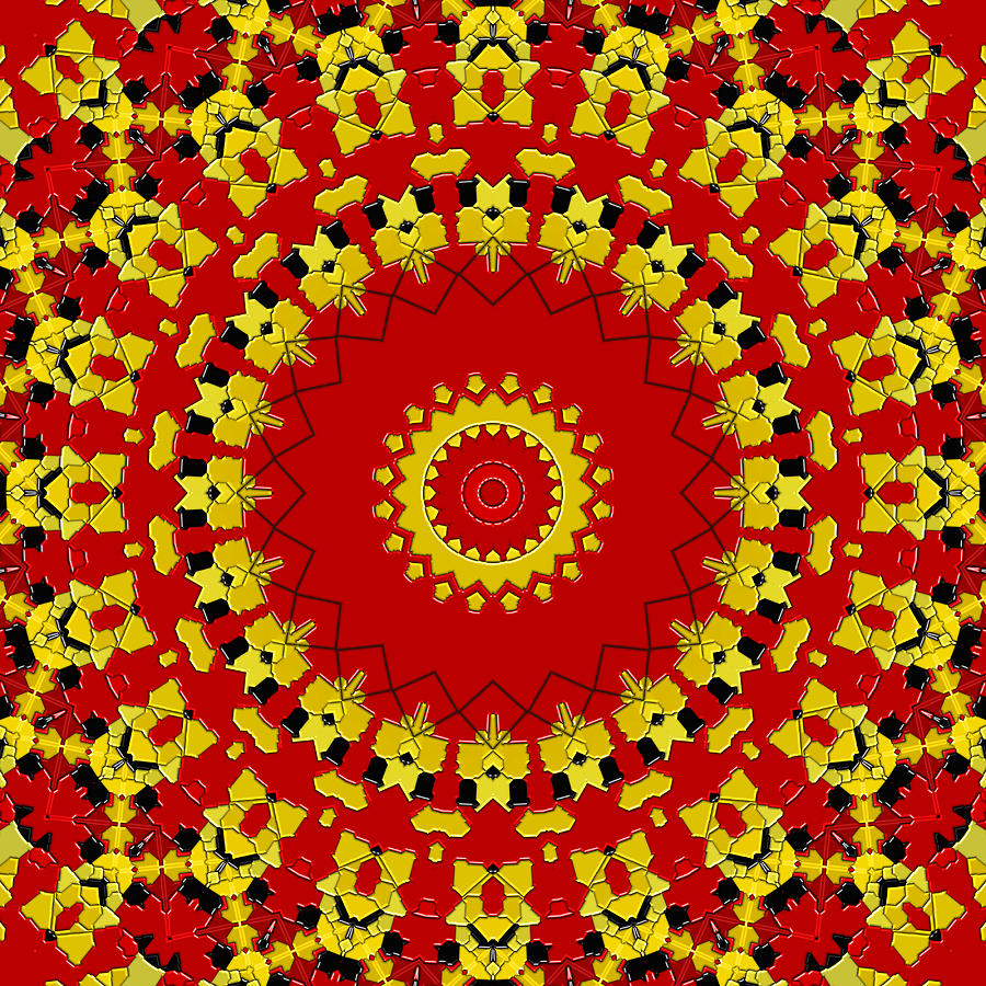 Kaleidoscope Digital Art - Zelda by Wendy J St Christopher
