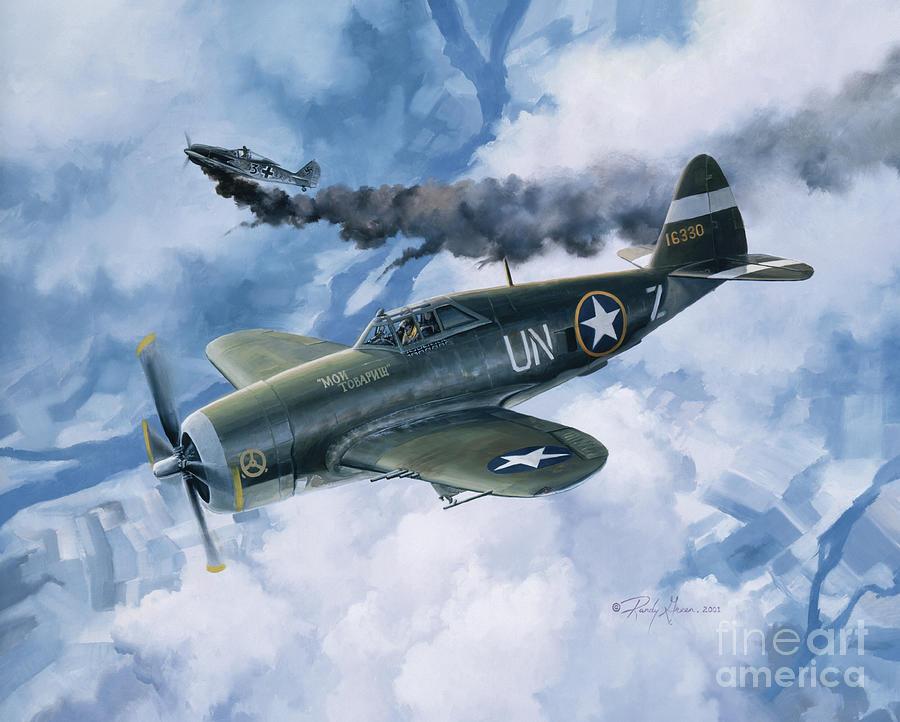 Aviation Art Painting - Zemkes Thunder by Randy Green