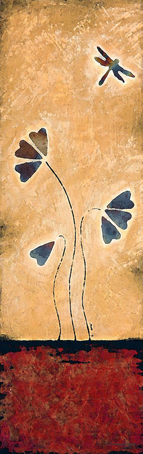 Zen Splendor - Dragonfly Art By Sharon Cummings. Painting
