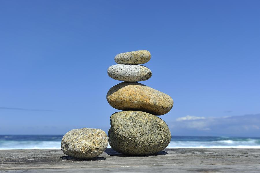 Zen Photograph - Zen Stones I by Marianne Campolongo