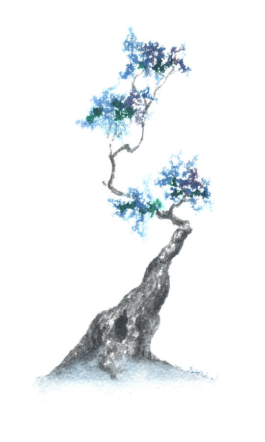 Zen Tree 840 Painting  - Zen Tree 840 Fine Art Print