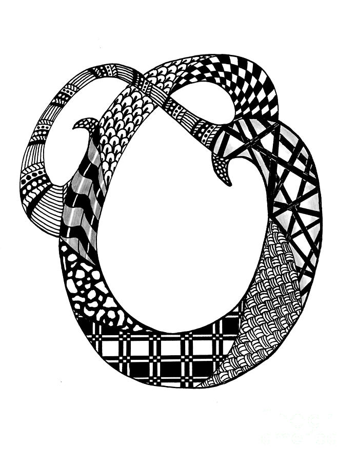 Letter O Design Black And White