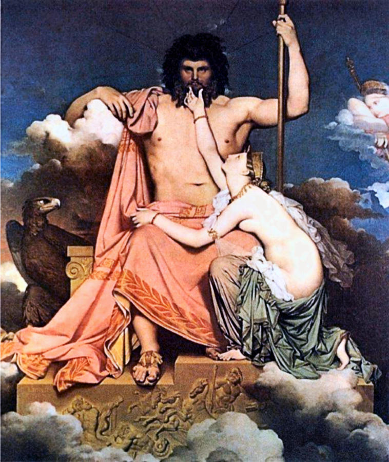 Zeus And Thetis  Painting