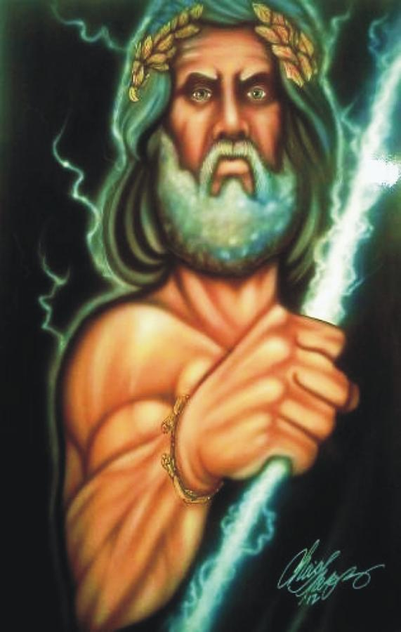 Zeus Painting - Zeus by Christopher Fresquez