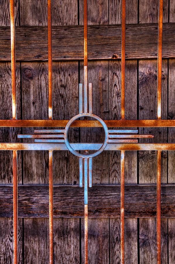 Zia Sun Symbol Gate Photograph