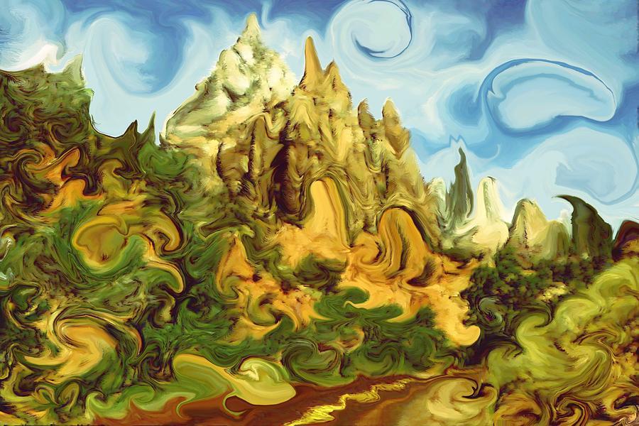 Zion bizarre utah modern art painting by art america for Modern art gallery online