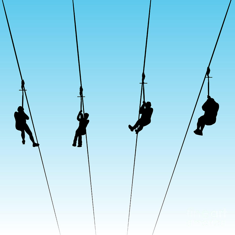 Line Art Zip : Zip line race digital art by john takai