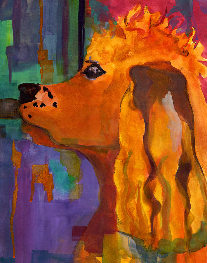Zippy Dog Art Painting  - Zippy Dog Art Fine Art Print