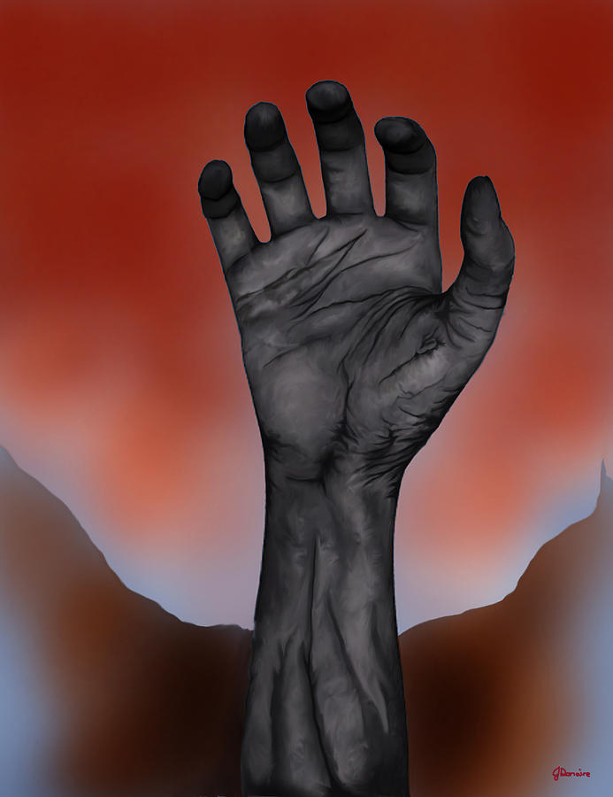 Zombie Hand Digital Art