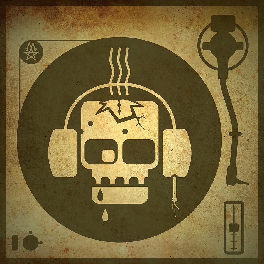 Zombie Turntable Digital Art