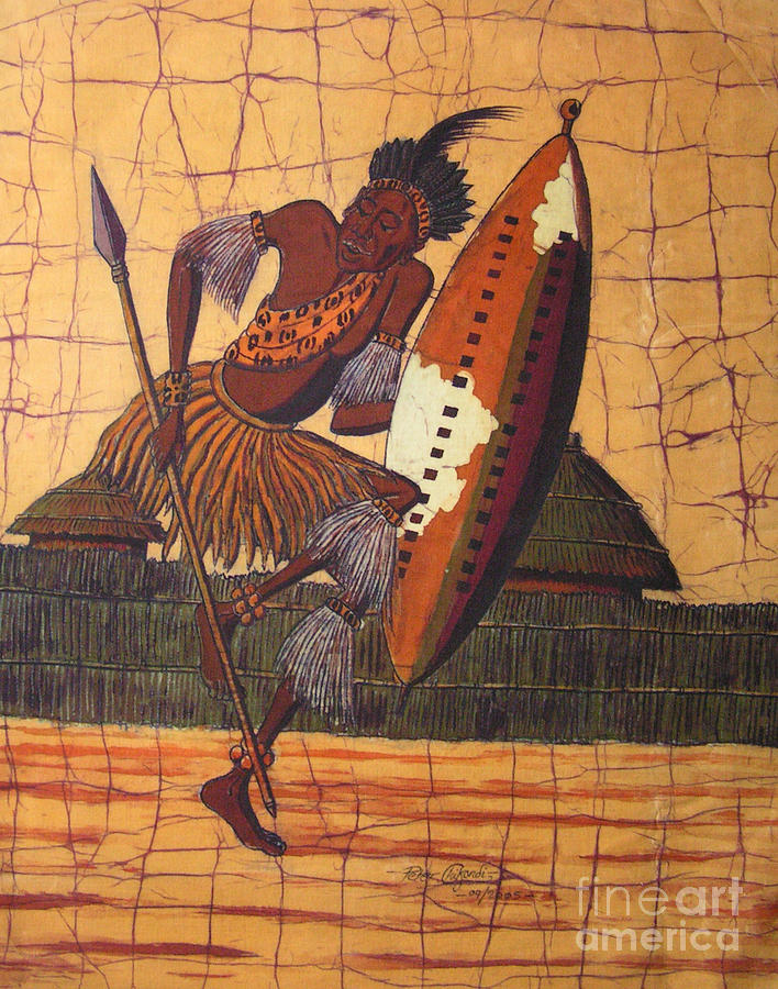 Zulu Warrior by Peter Chikwondi