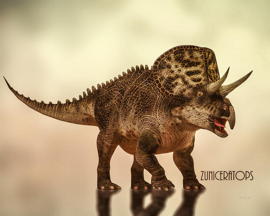 Zuniceratops Dinosaur Digital Art