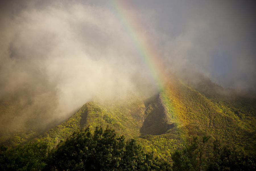 No People Photograph -    A Rainbow Shines Over The Rugged by Taylor S. Kennedy