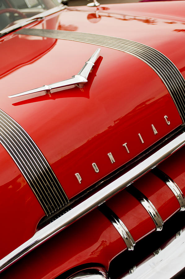 1955 Pontiac Hood Ornament And Grille Photograph