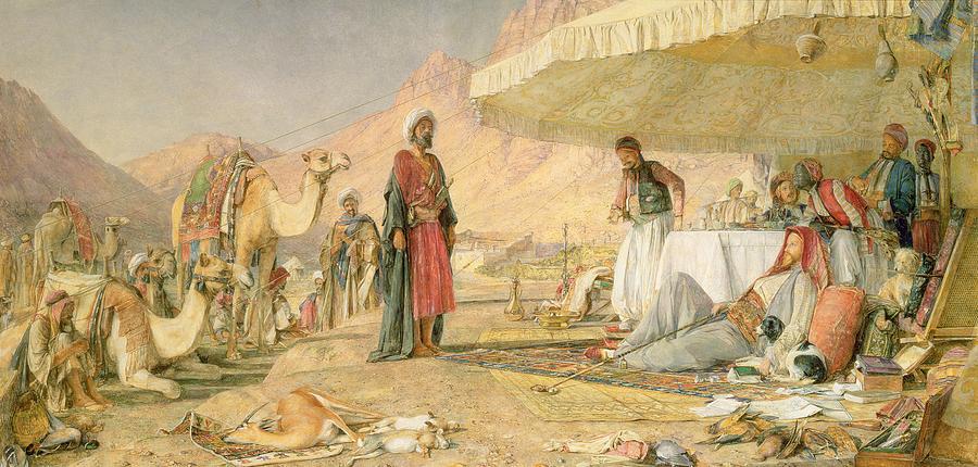 A Frank Encampment In The Desert Of Mount Sinai Photograph