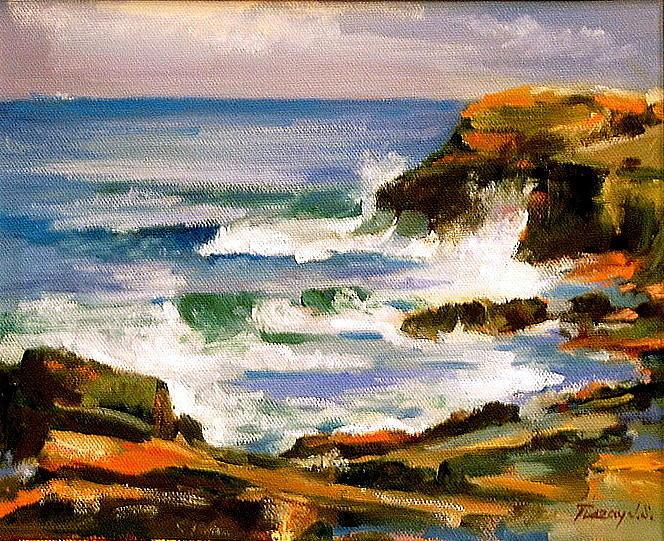 Landscape Painting -  Adrian Sea by Joe Tiszai