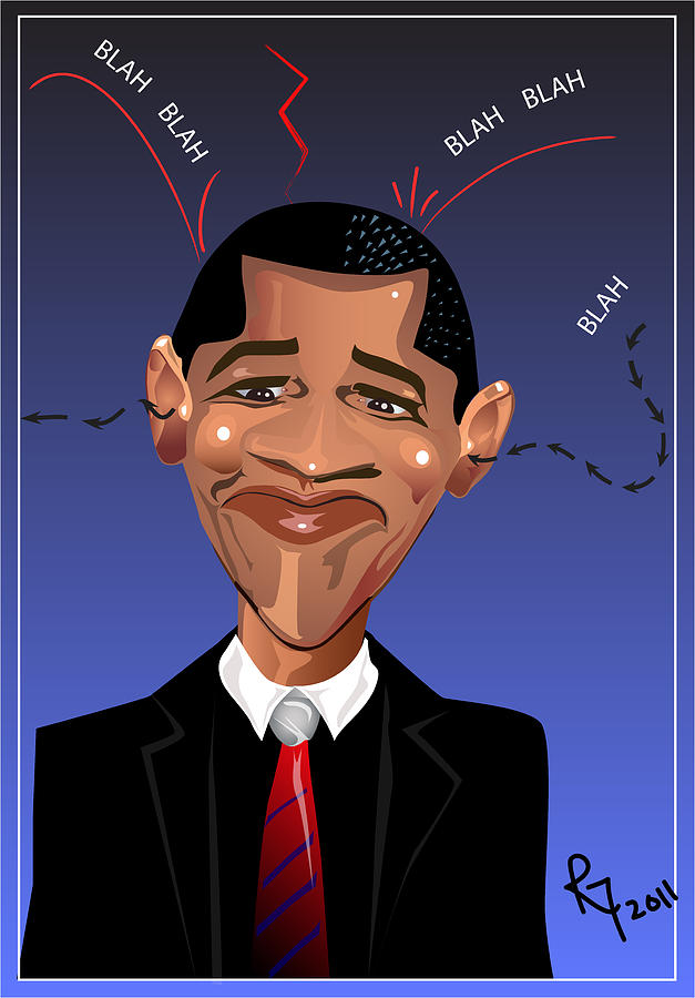 Barack Obama The President Of The United States Of America Digital Art  -  Barack Obama The President Of The United States Of America Fine Art Print
