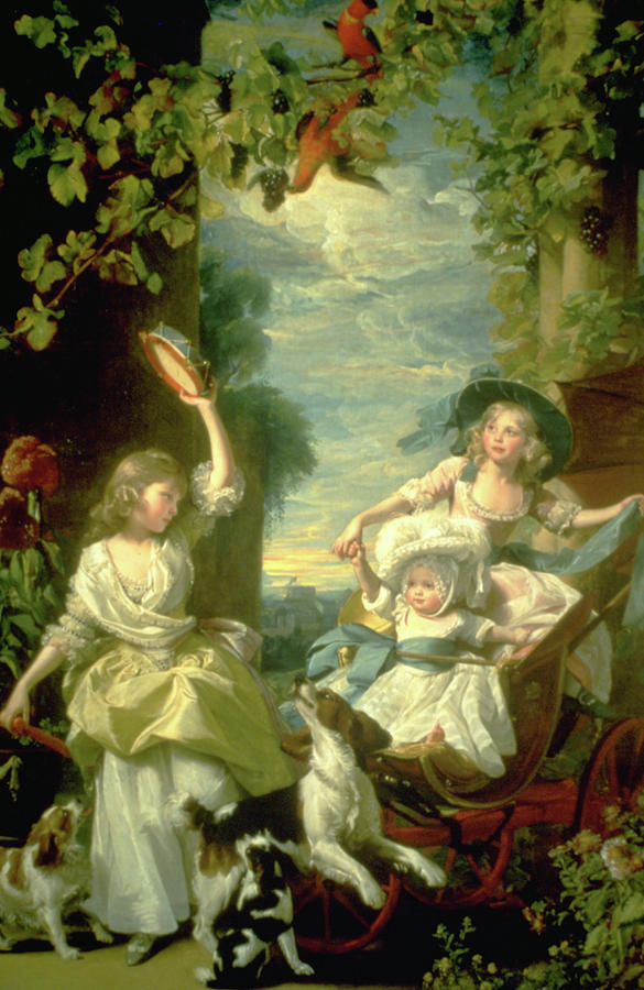 Bucoloic Painting By Honore Fragonard Painting