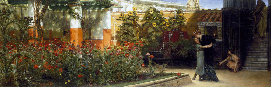 Corner Of A Roman Garden Painting