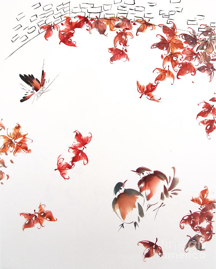Free Style Chinese Painting Painting -  Fall Sensation by Ming Yeung
