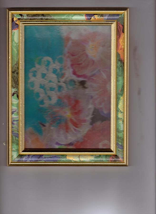 Fantasy Painting -  Fantasy Floral In Frame  by Anne-Elizabeth Whiteway