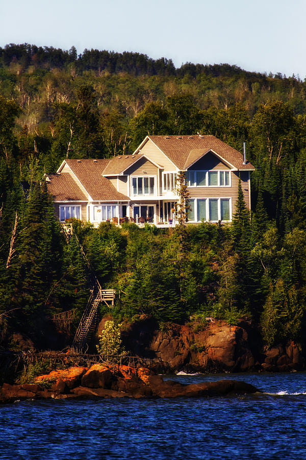 Grand Marais Beach Front Home Photograph  -  Grand Marais Beach Front Home Fine Art Print