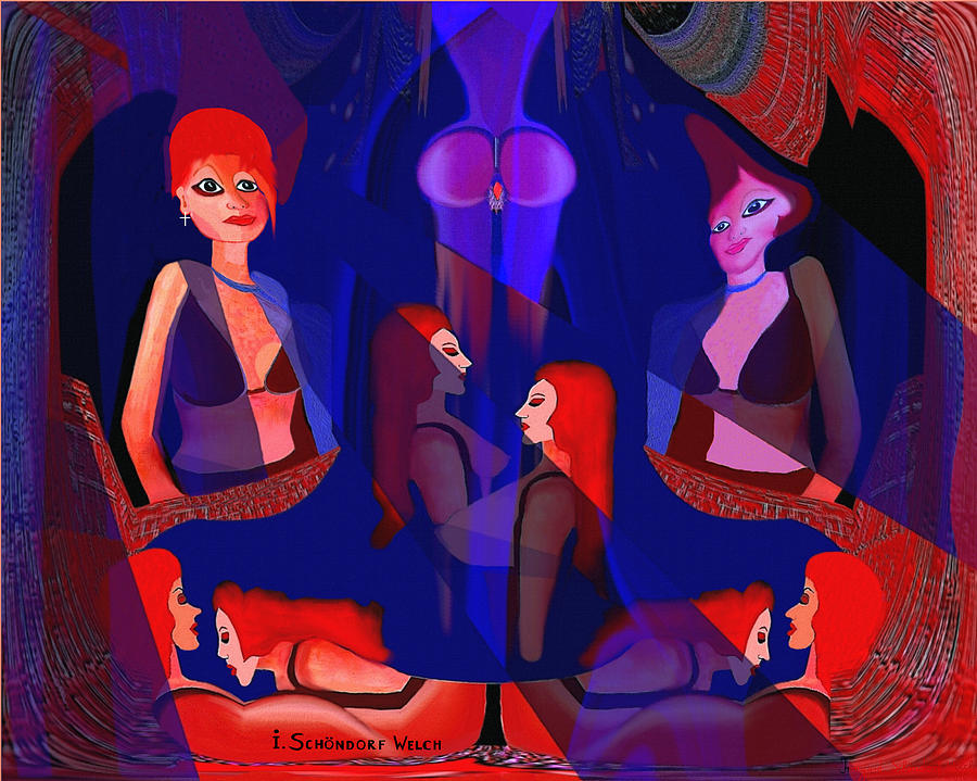 In The Harem - 123 Digital Art  -   In The Harem - 123 Fine Art Print