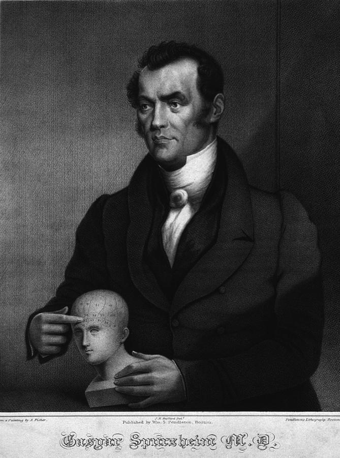 Johann Gaspar Spurzheim 1776-1832 Photograph