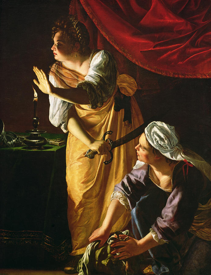 Judith And Maidservant With The Head Of Holofernes Painting