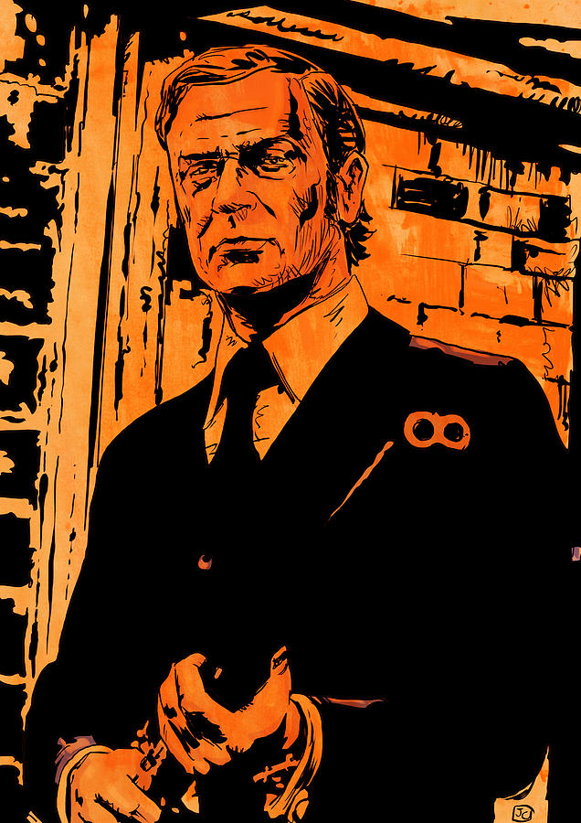 Michael Caine Drawing  -  Michael Caine Fine Art Print