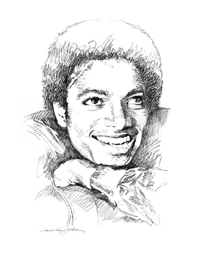 Michael Jackson Smile Drawing  -  Michael Jackson Smile Fine Art Print