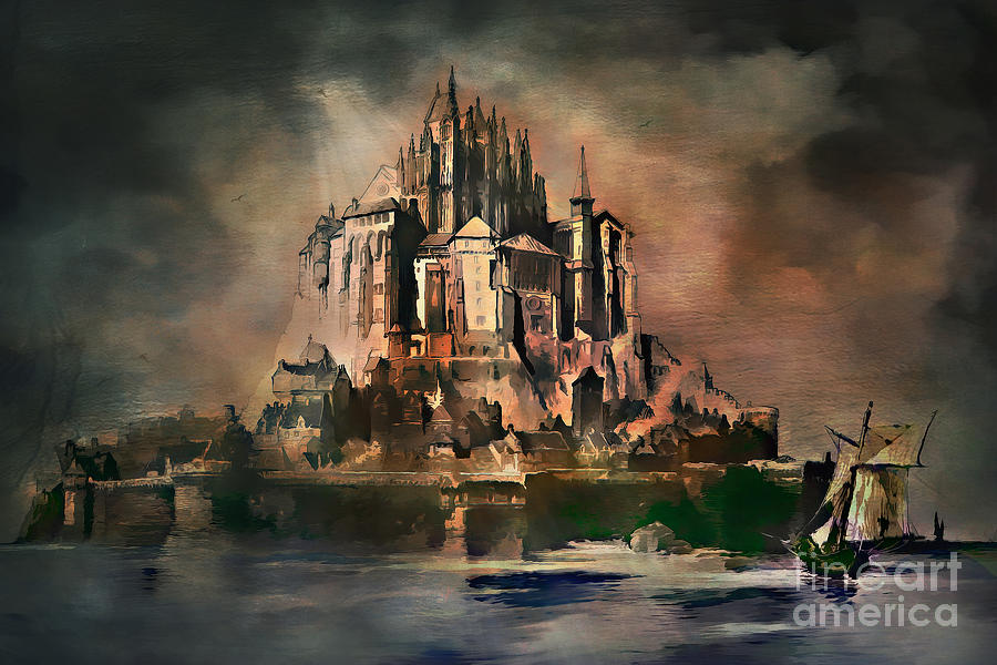 Mont Saint-michel Digital Art