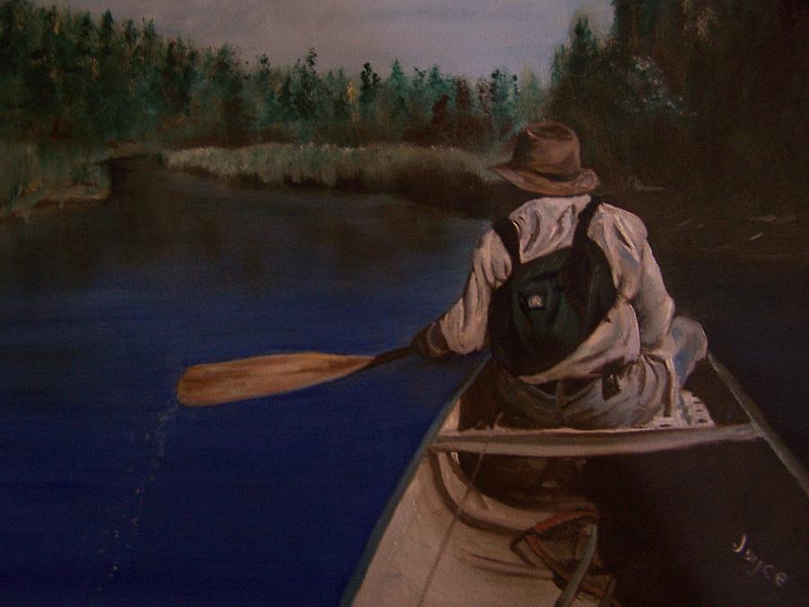 Canoe Painting -  New Discovery by Joyce Reid