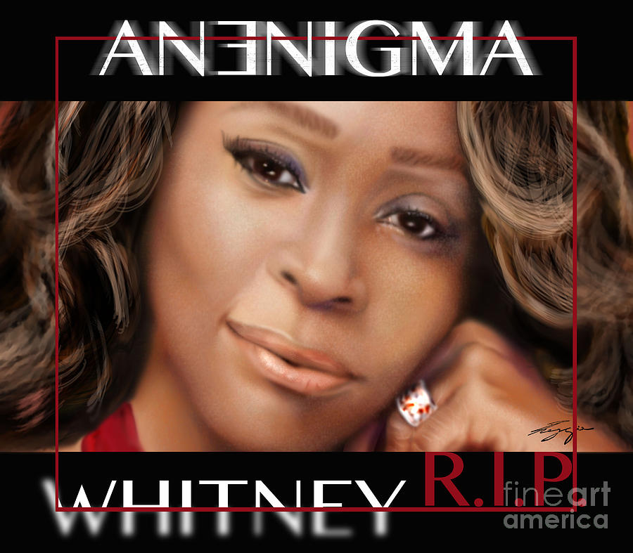 Super Star Painting -  No Bread Crumbs Along The Way-whitney by Reggie Duffie