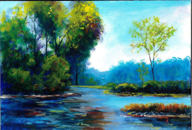 Plein air landscape oil painting painting by andrew semberecki for Oil painting scenery
