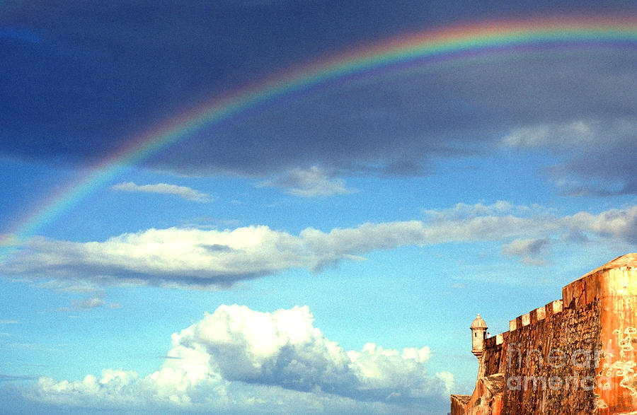 Rainbow Over El Morro Fortress Photograph  -  Rainbow Over El Morro Fortress Fine Art Print