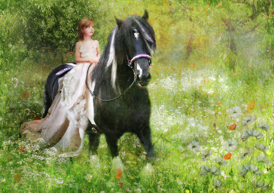 Riding With The Romany Digital Art  -  Riding With The Romany Fine Art Print