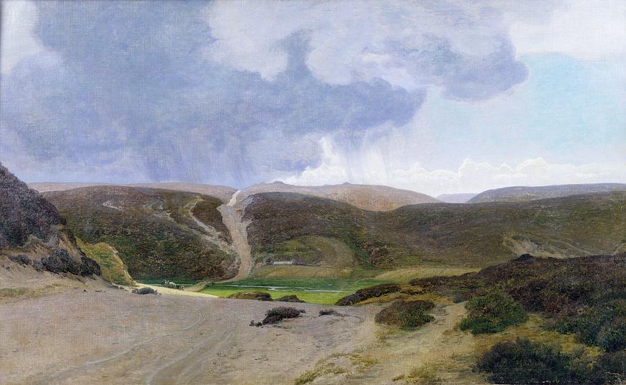 Mountain; Mountainous Painting -  Scandinavian Landscape  by Janus la Cour