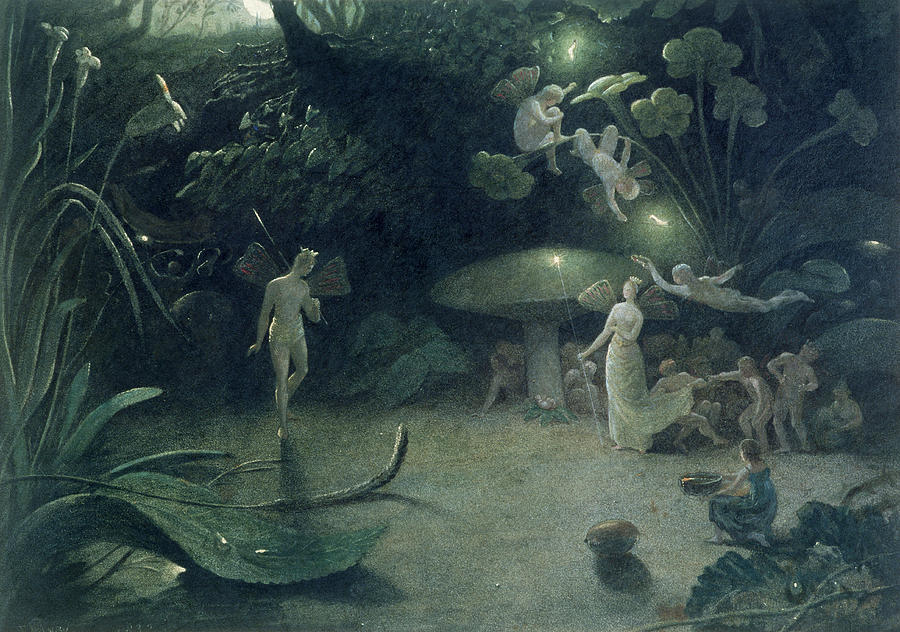 Scene From a Midsummer Nights Dream Painting  -  Scene From a Midsummer Nights Dream Fine Art Print