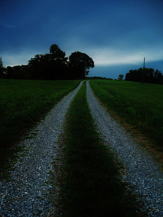 Its A Landscape  Photograph -  Stormy Road  by Maria Blumberg
