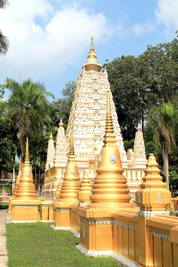 Ancient Sculpture -   Stupa  by Panyanon Hankhampa
