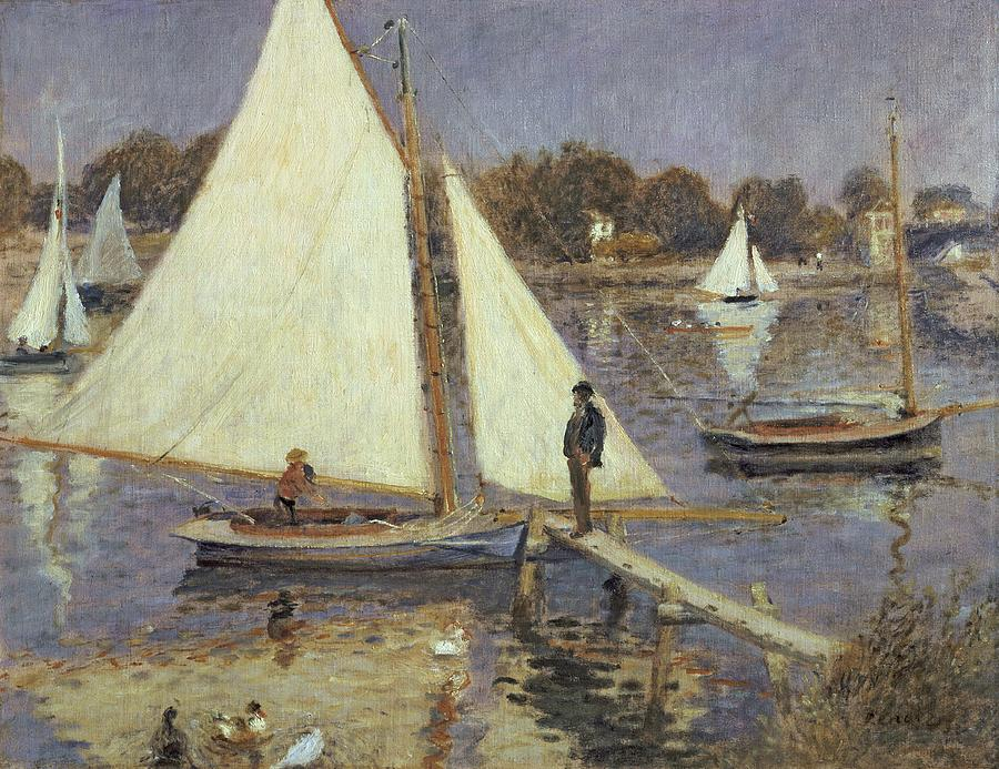 The Seine At Argenteuil Painting