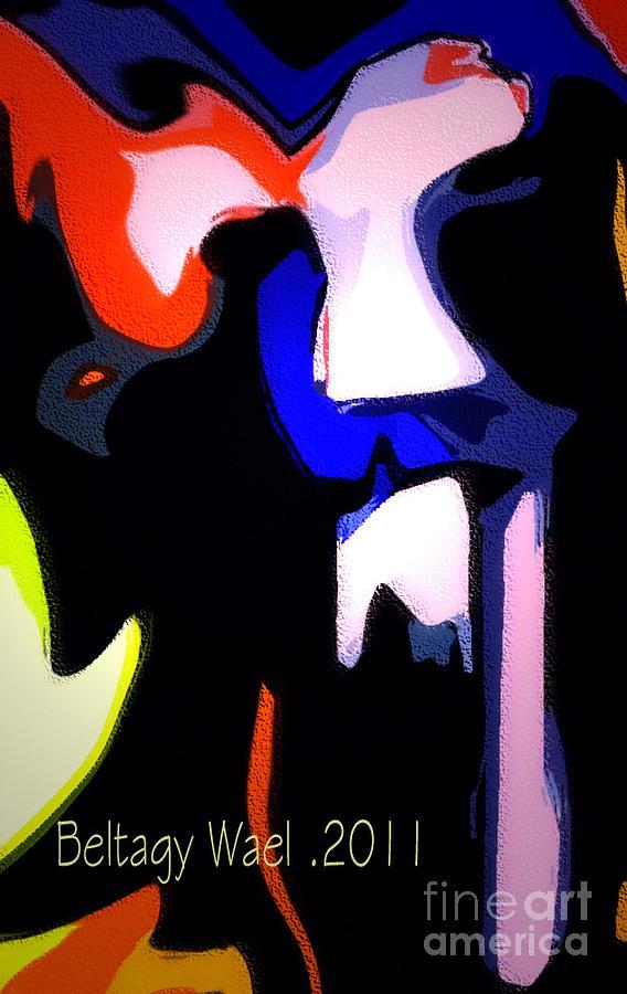 A.a.girl.women.up.'duck Framed Prints Digital Art -  Tiger Face by Beltagy Beltagyb