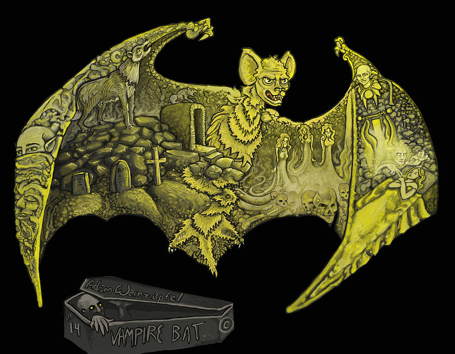 Vampire Bat Mixed Media