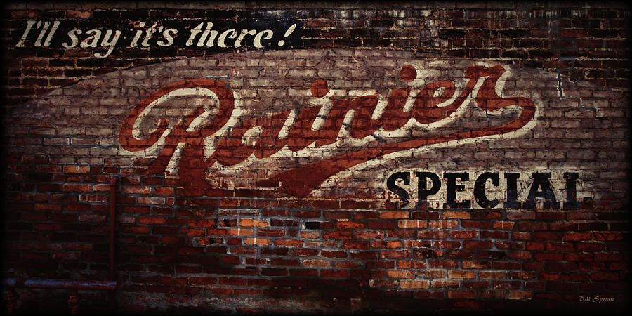 Vintage Rainier Sign Photograph