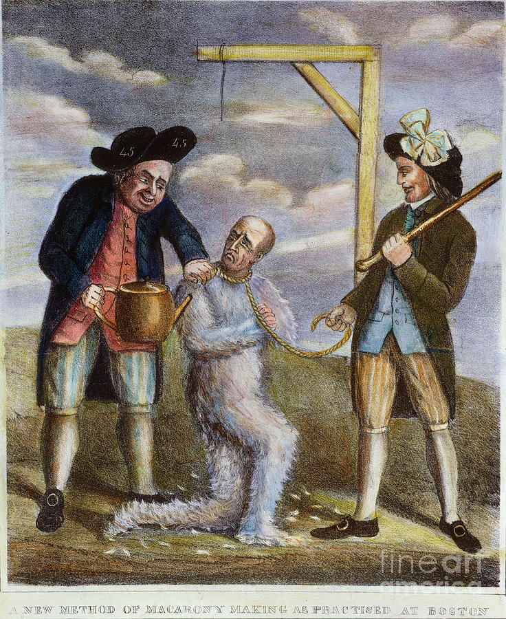 Tarring & Feathering, 1774 Painting  - Tarring & Feathering, 1774 Fine Art Print
