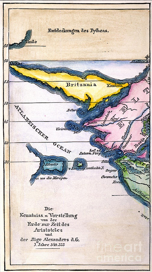 Atlantis: Map, 1831 Painting  - Atlantis: Map, 1831 Fine Art Print